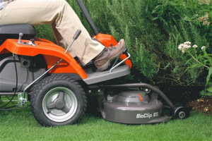 Husqvarna Rider R112C reaches places other mowers can't