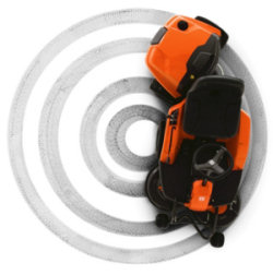 Husqvarna R112C easy to use in the garden