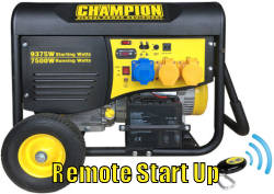 Champion CPG9000 remote start generator